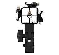 DUALANE Swivel Triple Hot Shoe Mount Adapter Flash Umbrella Holder Bracket Light Stand - Black
