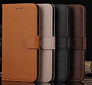 cuero de la PU caso de cuerpo completo con ranura para tarjeta y la billetera y soporte para el iPhone 6 más (colores surtidos)