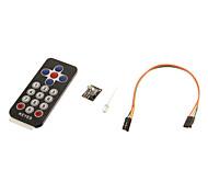 kt0014 ir receptor módulo kit controle remoto sem fio para arduino (1 x CR2025)