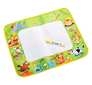 48x58cm Kids' Aquadoodle Water Drawing Board Magic Pen Toys with Paintings of Animal(Plastic Bag)
