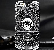 3D Black Eye Painting Relievo PC Hard Case for iPhone4/4S
