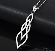 I FREE®Valentine's Day Gift S925 Silver Mosaic Crystal Pendant Necklace 1 pc (Include The Necklace)