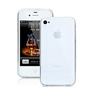 Qianjiatian®Transparent Soft Silicone Case for Apple 4/4S