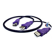 0.6M 1.9FT USB2.0 Male to 2 USB2.0 Male Cable Free Shipping