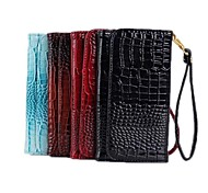 Crocodile PU Leather Wallet PU Leather Protective Case with Stand for iPhone 3/4/5S