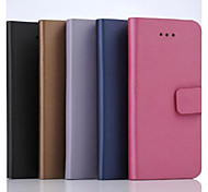 5.5 Inch Brushed Pattern Wallet Leather Case for iPhone 6 Plus(Assorted Colors)