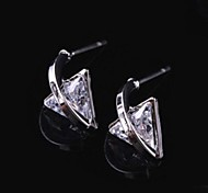 Z&X®  Fashion High Grade Personality Exquisite Triangle Zircon Earrings