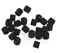 ZnDiy-BRY R203-305 M3 x 5 Nylon Plastic Hexa Pillar Spacer Supporter - Black (20 PCS)