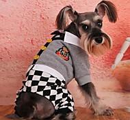Pet Fashion encantador estilo faculdade grade quatro pés vestuário para animais de estimação cães (tamanhos variados)