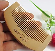 Popular Natural Health Care Comb Anti-static Comb  Peach Wooden Comb Size 10X5
