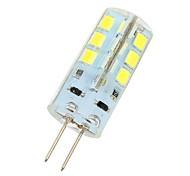 Capsule alogene 24 SMD 2835 G4 3 W 270 LM 6000-6500 K Luce fredda DC 12 V