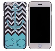 Green Anchor Pattern PC Hard Cover for iPhone 6