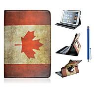 kanadische Flagge Muster PU-Leder Ganzkörper-Kasten für ipad mini 3, ipad mini 2, ipad mini