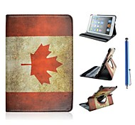 canadian padrão de bandeira de couro pu caso de corpo inteiro para o mini ipad 3, mini ipad 2, mini ipad