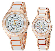 Women's Watch Fashion Gold Alloy Band