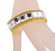 Fashion Rhinestone Yellow Ribbon Bracelet