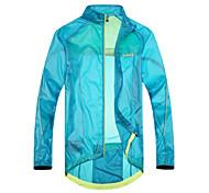 SANTIC Men's Cycling Rain Jacket/Waterproof jacket Blue Outdoor Anti UV Ultralight Breathable