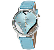 Women's Hollow Heart Dial PU Band Quartz Wrist Watch (Assorted Colors) Cool Watches Unique Watches