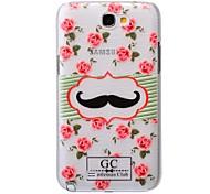 motif de moustache pc brossé étui rigide pour Samsung Galaxy Note 2 N7100