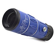 3963 16x52 Blue Handy Portable 16X Monocular Single-Tube Telescope w/ Compass