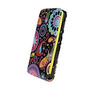 Teste padrão de flores coloridas abrir cima e para baixo de couro pu caso de corpo inteiro para Nokia Lumia 625