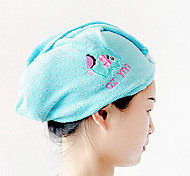 Hairdressing Tool Cartoon Plus Size Thickening Nano Fiber Magic Super Absorbent Dry Hair Hat Shower Cap