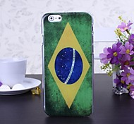 Retro Brazil Flag Pattern Plastic Hard Cover for iPhone 6