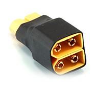 No Wires Connectors/Plug 1 Male XT60 to 2 Female XT60, Parallel Interface (10PCS/Bag)