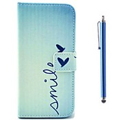 Letter Pattern PU Leather Cover and Capacitance Pen with Stand for iPhone 6