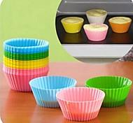 couleurs de bonbons moules à gâteaux en silicone de cuisson 6pcs (couleur assorties)