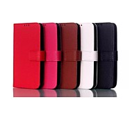 Lichee Pattern PU Leather Case with Stand Holder for Moto E(Assorted Colors)