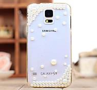 diamant perle cas de couverture arrière pour les i9600 Samsung Galaxy S