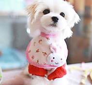 White Rabbit Pattern Saliva Towels for Pet Dogs