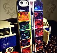 toophone® Joyland pó relâmpago TPU pintura bandeja de volta para o iPhone 5 / 5s