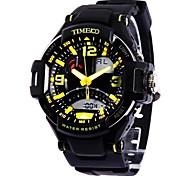 garçons time100&filles a conduit à double affichage de l'heure multifonctions sportif pu bracelet montre électronique