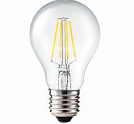 Bombillas de Filamento LED Decorativa / Regulable ON G60 E26/E27 5W 4 COB 400 LM Blanco Cálido AC 100-240 V