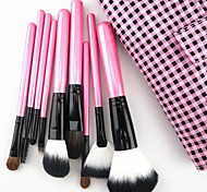10 Makeup Brushes Set Goat Hair / Pony / Synthetic Hair Face / Lip / Eye Others