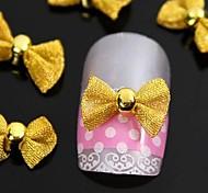 10шт золото галстук-бабочка для кончиков пальцев аксессуаров украшения искусства ногтя