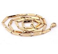 z&x® chapado en oro de la personalidad de la moda masculina de sol collares de acero dios patrón de titanio