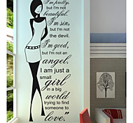 JiuBai™ Quote With Beauty Home Decoration Wall Sticker Wall Decal,55cm*150cm