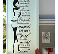 jiubai ™ citação com a beleza casa decoração da parede adesivo de parede decalque, 55 centímetros * 150 centímetros