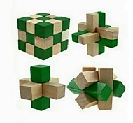 4Pcs Primary Unlock Wooden Educational Toys