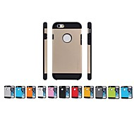 Armor Design Silicone Back Case for iPhone 6 (Assorted Colors)
