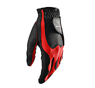 PGM Men's Left Hand Synthetic Leather+Lycra Black+Red High Elastic Magic Golf Gloves-1 Piece