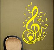 jiubai ™ nota musical calcomanía etiqueta de la pared decoración del hogar de la pared