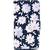 weiße Blumen-Muster Ganzkörper Fall mit Ständer für iPhone 4 / 4s