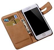 modello PU soft cover portafogli in pelle per iPhone 6S 6 Plus