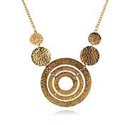 Fashion Circle Alloy Statement Necklace