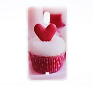 Kinston Heart of the Cake Pattern Plastic Hard Case for Nokia Lumia 1320