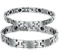 Z&X®  Fashion Magnetic Health Care Titanium Steel Couple Bracelet